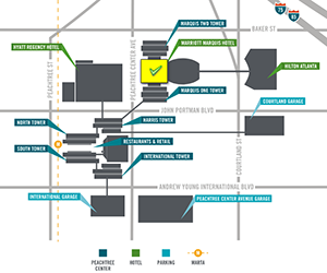 Peachtree Center Map